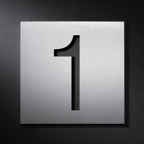 beschriftungen hausnummern buchstaben zahlen edelstahl au en. Black Bedroom Furniture Sets. Home Design Ideas