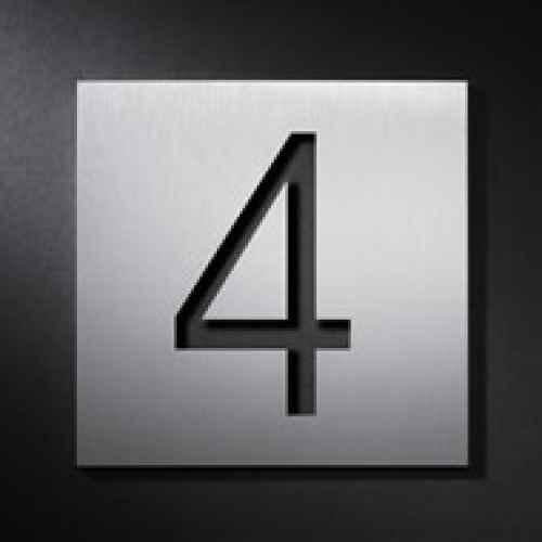 Moderne Hausnummern Edelstahl beschriftungen hausnummern buchstaben zahlen edelstahl außen