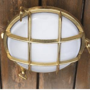Außenlampen aus Messing
