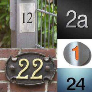 Hausnummern und Piktogramme