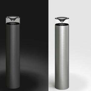 Aluminium Wegbeleuchtung bei Tag und Nacht