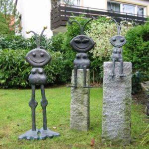 Ameisen Kupferfiguren namens Emil für den Garten von Young A
