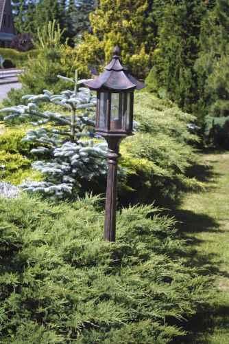 Asien Style Garten Stehleuchte Pagodendach