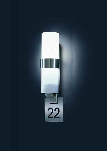 lampe mit hausnummer led wandlampe au enlampe hausnummer. Black Bedroom Furniture Sets. Home Design Ideas