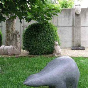 Bär Skulptur Garten