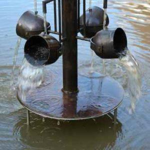 Becher Teich Wasserspiel
