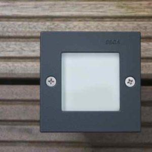 Bega 2002 quadratische Wandeinbauleuchte außen