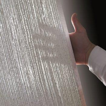 Lichtfaser in Beton in Wand und Decke