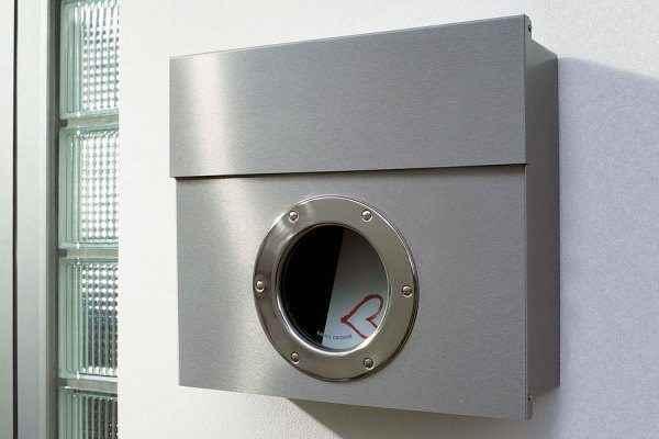 Design Briefkasten Mit Bullauge Aus Edelstahl