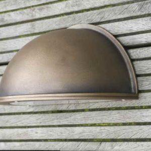 Bronze Außenwandleuchte Bega Boom Halbschale