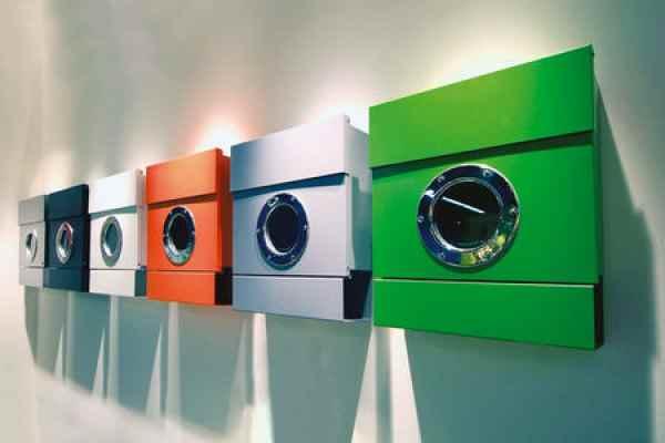 moderne edle farbige briefk sten mit bullauge. Black Bedroom Furniture Sets. Home Design Ideas