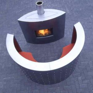 Design Luxus Kamin auch für Außen