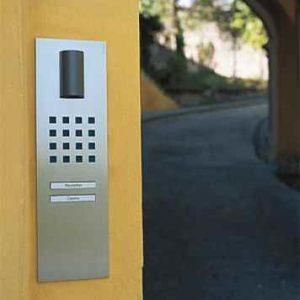 Design Sprechanlage mit Lichtmodul und Klingel