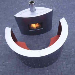 Design Stahl Luxus Ofen  Kaminvom Feinsten