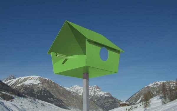 Designer Vogelhaus grün
