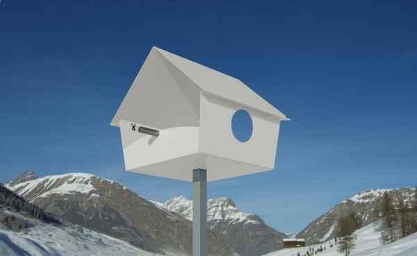 Moderne vogelh user in verschiedenen farben - Modernes vogelhaus ...