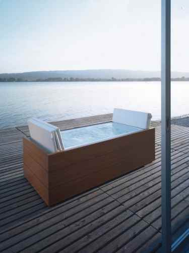sundeck whirlpool badewanne f r garten und terrasse. Black Bedroom Furniture Sets. Home Design Ideas