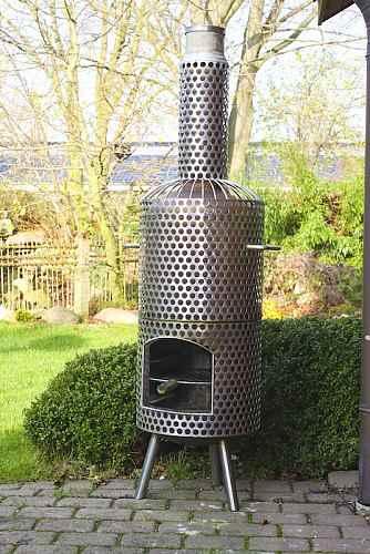 stabiler massiver design edelstahl grill und ofen. Black Bedroom Furniture Sets. Home Design Ideas