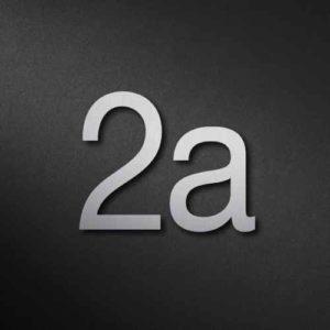 Edelstahl Hausnummer 2a modern