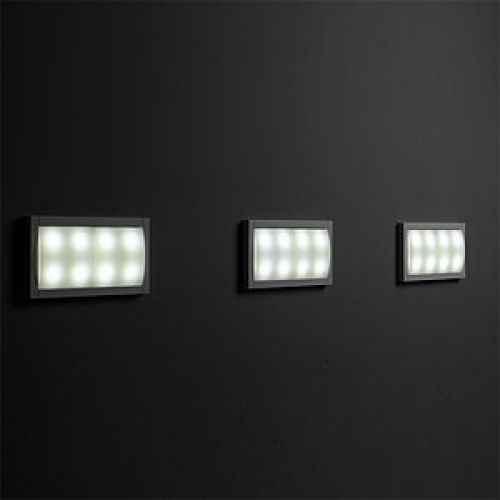 quadratische lichtmodul led au en wandeinbau leuchten modern. Black Bedroom Furniture Sets. Home Design Ideas