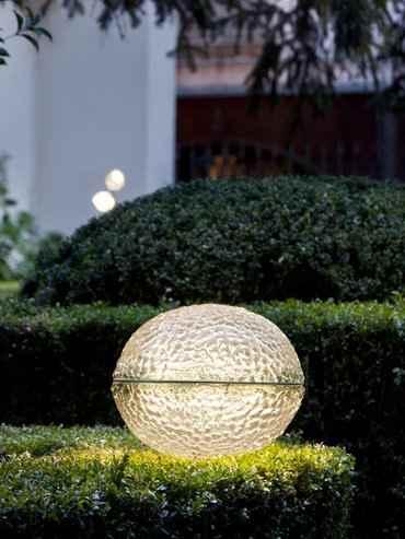 Exklusive Glas Gartenleuchte in 2 verschiedenen Größen 30cm und 50cm.