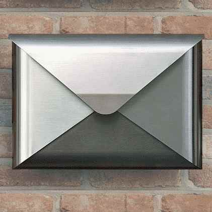 Exklusiver Briefkasten Aus Edelstahl In Form Eines Briefes