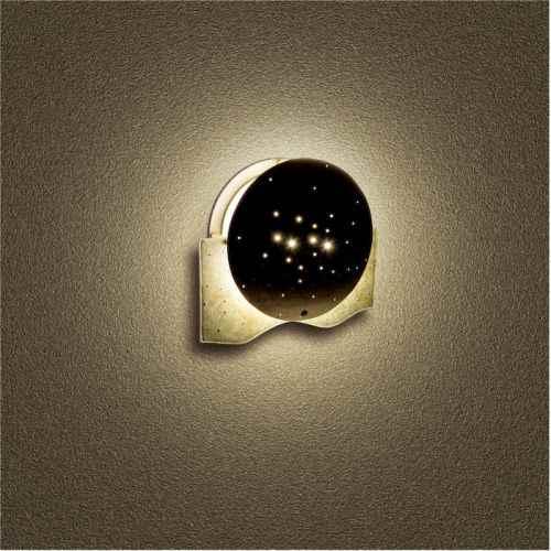 runde bronzeleuchte au en wandlampe wandleuchte. Black Bedroom Furniture Sets. Home Design Ideas