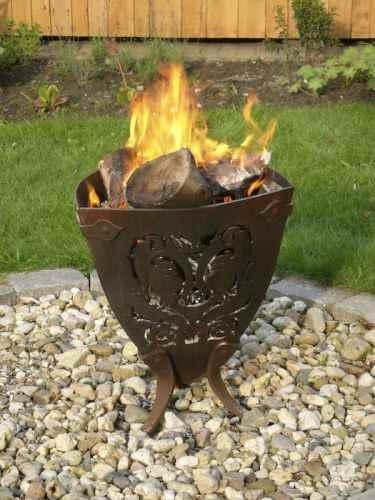 Feuerkorb + Grill für Garten und Terrasse