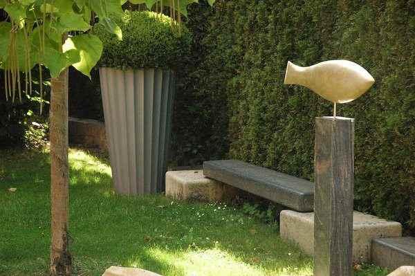 Fisch Skulptur Garten
