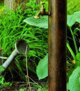 Freistehende  Garten Wasser Zapfstelle