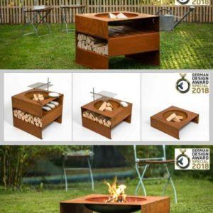 Stahl Design Garten Feuerstelle