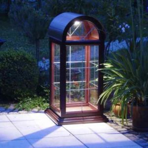 Garten Glassäule Lichtsäule Bleisprossen