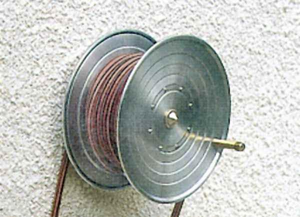 garten wand schlauchwickler f r drau en edelstahl haus und. Black Bedroom Furniture Sets. Home Design Ideas