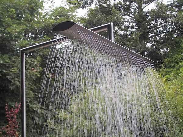 Außendusche pooldusche duschen am teich im garten außendusche gartendusche