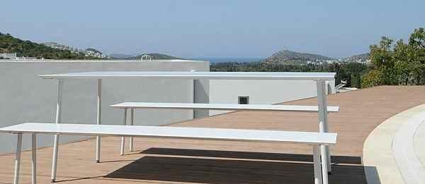 Design Garten Tisch Und Bänke Für Terrasse Balkon Und Garten