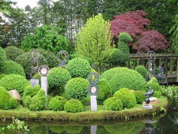 Gartenskulturen vom Künstler