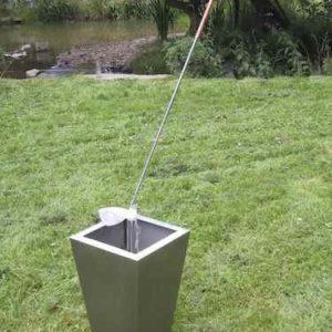 Golfball Wasserspiel Garten Terrasse Golfspieler Geschenk