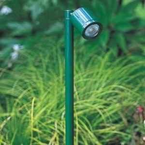 grüne Außenlampen
