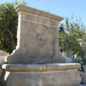 Großer Antik Zierbrunnen Wandbrunnen Garten Antik Naturstein Wasserspeier