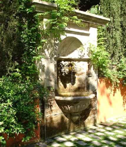 Gartenbrunnen naturstein mit wasserbecken wasserspeier - Garten wandbrunnen ...