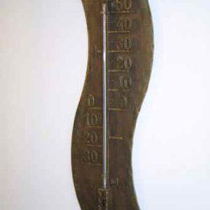 großes außen Thermometer