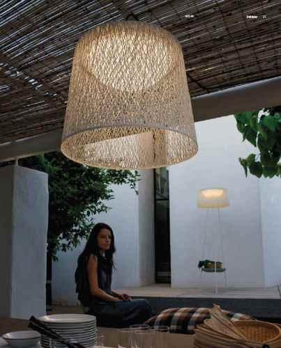 farbige h ngeleuchten f r au en lichtdurchl ssiger bastschirm. Black Bedroom Furniture Sets. Home Design Ideas