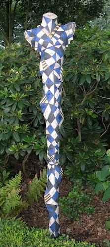 Harlekin Garten Skulptur mit Karos