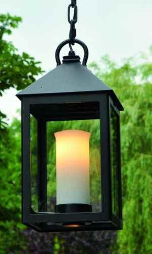 decken h ngeleuchte au en mit kette mit kerze als lampe. Black Bedroom Furniture Sets. Home Design Ideas