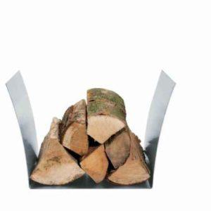 Holzlege aus Edelstahl Design Heinze