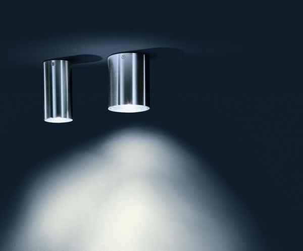 deckenaufbauleuchten f r au en edelstahl geb rstet zylindri. Black Bedroom Furniture Sets. Home Design Ideas