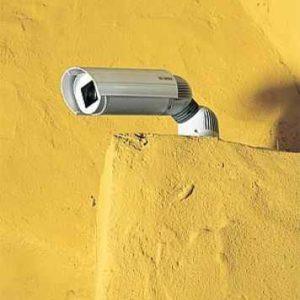 Kamera überwacht Hauseingang