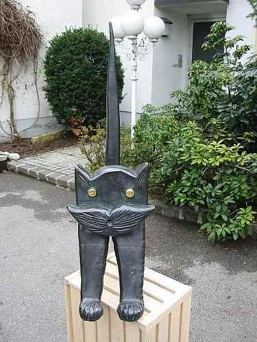 Katze Basche-Kupferarbeiten Young Art Collection