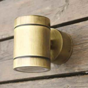 Kleine runde  Bronze Wand Außenleuchte