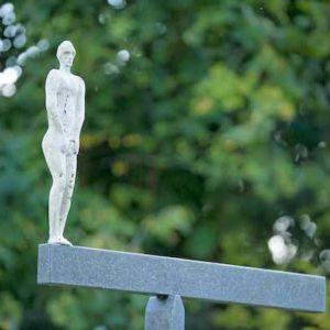 kleine Skulptur Figur außen
